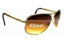 Sunglass Fix Replacement Lenses for Tod's TO 08 - 62 mm Wide