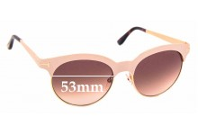 Sunglass Fix Replacement Lenses for Tom Ford Angela TF438 - 53mm wide