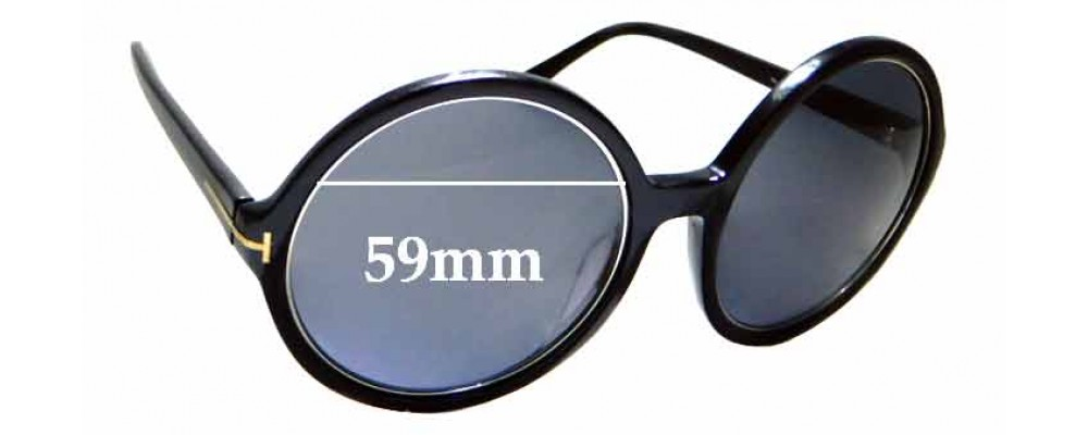 fb3d974ad19c4 Tom Ford Carrie TF 268 Replacement Lenses 68mm Wide by The Sunglass Fix®