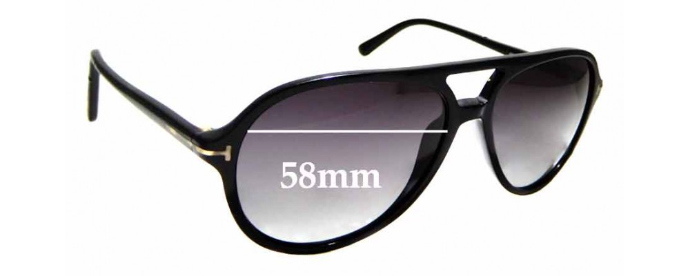 011b1de83a3 Sunglass Fix Replacement Lenses for Tom Ford Jared TF331 - 58mm wide ...