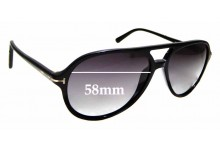 Sunglass Fix Replacement Lenses for Tom Ford Jared TF331 - 58mm wide
