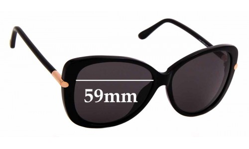 Sunglass Fix Replacement Lenses for Tom Ford Linda TF9324 - 59mm Wide