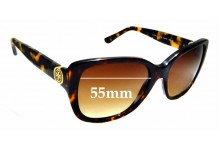 Sunglass Fix New Replacement Lenses for Tory Burch TY7086 - 55mm Wide