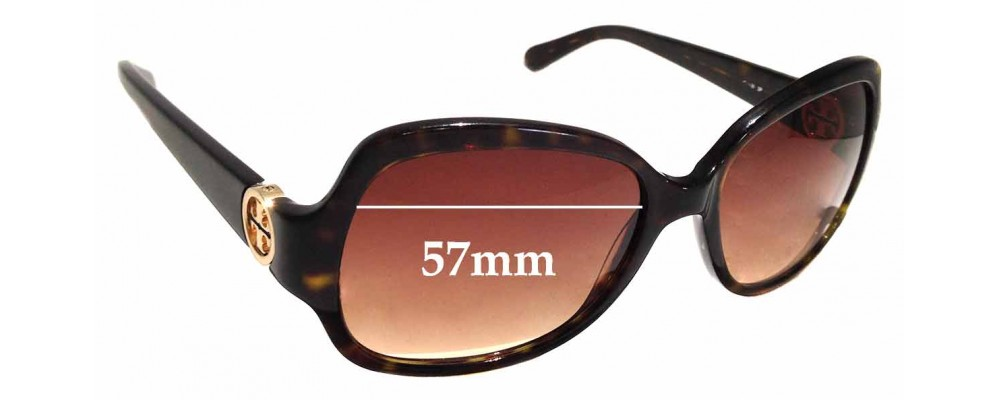d9ad601100e0a Sunglass Fix Replacement Lenses for Tory Burch TY7059 - 57mm wide ...