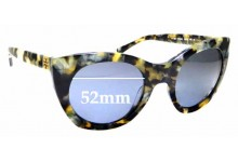 Sunglass Fix New Replacement Lenses for Tory Burch TY7097 - 52mm Wide