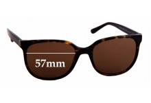 Sunglass Fix New Replacement Lenses for Tory Burch TY7106 - 57mm Wide