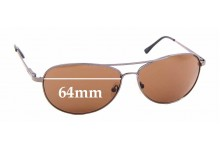 Sunglass Fix Replacement Lenses for Tropic Winds Pelican Cay TW002M - 64mm wide