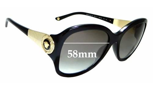 Sunglass Fix Replacement Lenses for Versace MOD 4237-B - 58mm wide