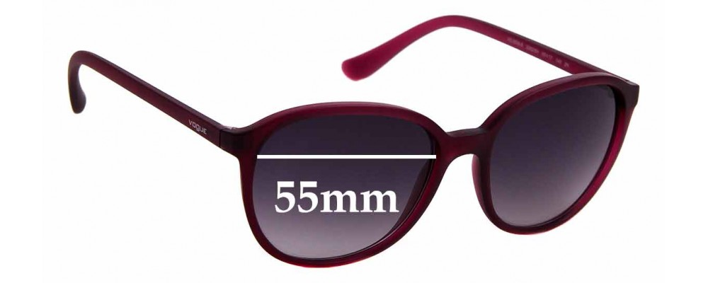 Sunglass Fix Replacement Lenses for Vogue 2939-S - 55mm Wide