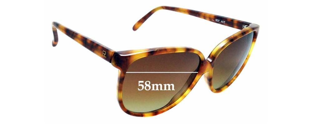 Sunglass Fix Replacement Lenses for Vuarnet Pouilloux 467 - 58mm wide
