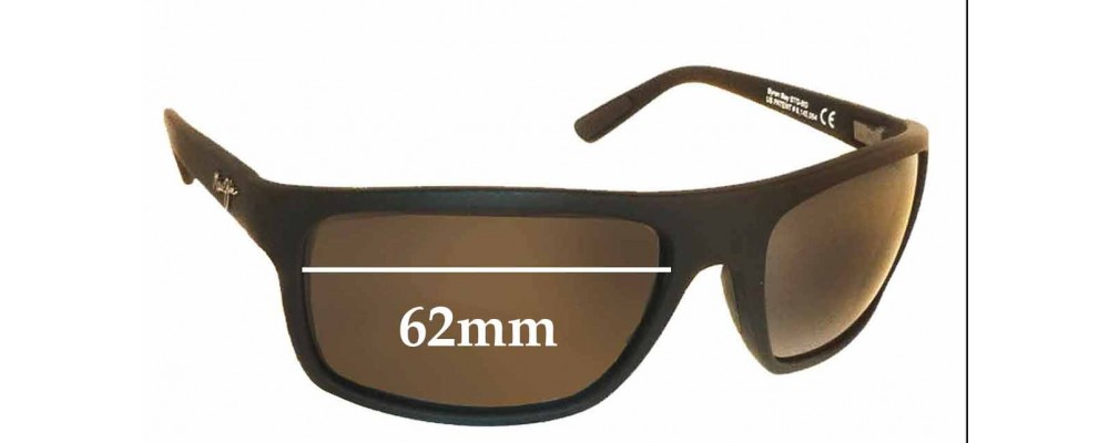 Sunglass Fix Replacement Lenses for Maui Jim MJ746 Byron Bay - 62mm Wide