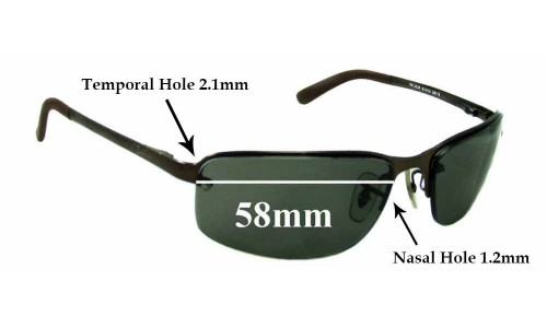 Sunglass Fix Replacement Lenses for Ray Ban RB3239 - 58mm wide