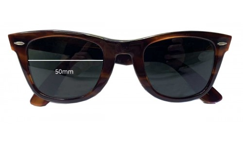 Sunglass Fix Replacement Lenses for Ray Ban RB5024 Bausch Lomb Wayfarer - 50mm wide