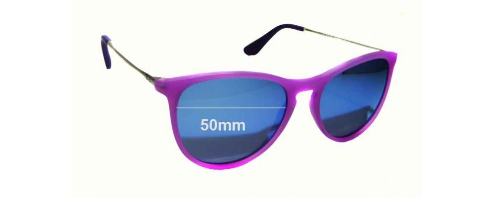 Ray Ban Jr RJ9060S Replacement Sunglass Lenses - 50mm wide