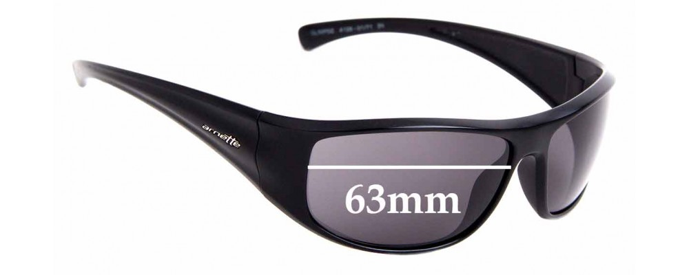 Sunglass Fix Replacement Lenses for Arnette Glimpse AN4126 - 63mm Wide