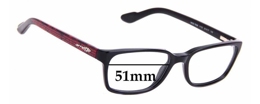 Sunglass Fix Replacement Lenses for Arnette MOD 7036 - 51mm Wide