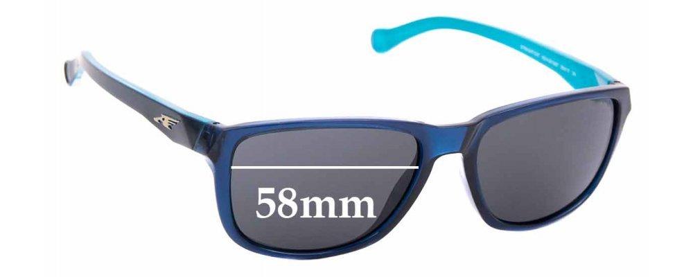 Sunglass Fix Replacement Lenses for Arnette Straight Cut AN4214  - 58mm Wide