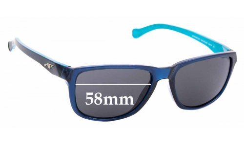 Sunglass Fix Replacement Lenses for Arnette Straight Cut AN4214  - 58mm Wide
