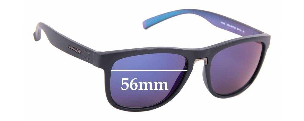Sunglass Fix Replacement Lenses for Arnette Woke AN4252 - 56mm Wide