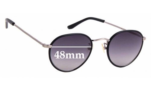 Sunglass Fix Replacement Lenses for Bailey Nelson Adler Windsor - 48mm wide