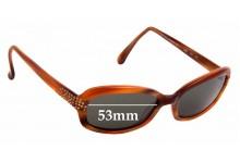 Sunglass Fix Replacement Lenses for Beausoleil Paris 340 - 53mm Wide