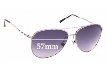 Sunglass Fix Replacement Lenses for Burberry House Check Foil - 57mm Wide