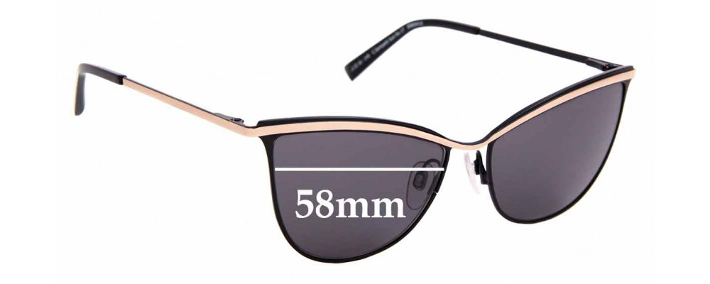 Sunglass Fix Replacement Lenses for Carla Zampatti Sun Rx 17 - 58mm Wide