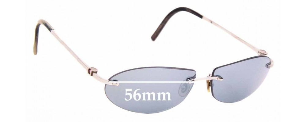 Sunglass Fix Replacement Lenses for Cartier 3968278 - 56mm Wide
