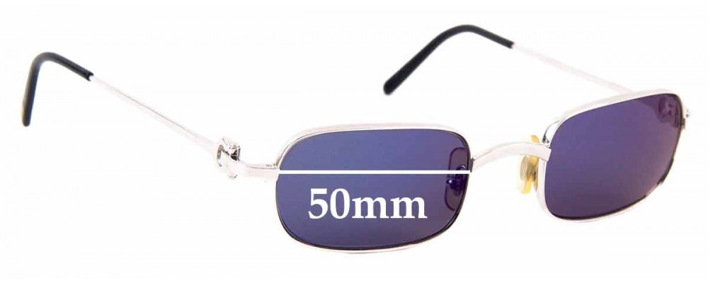 Sunglass Fix Replacement Lenses for Cartier T8100364 -  50mm Wide