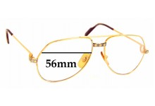 Sunglass Fix Replacement Lenses for Cartier Vendome Santos - 56mm Wide
