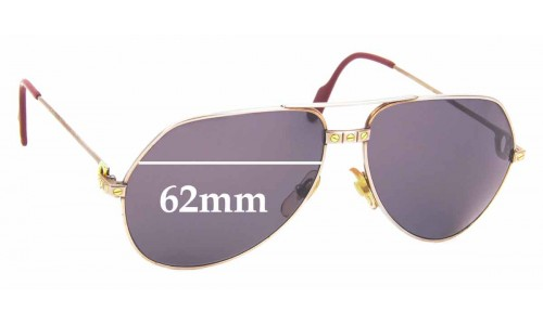 Sunglass Fix Replacement Lenses for Cartier Vendome Santos - 62mm Wide
