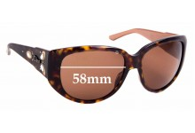 Sunglass Fix Replacement Lenses for Christian Dior Ethnidior 1 - 58mm