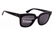 Sunglass Fix Replacement Lenses for Christian Dior Soft 2 - 51mm
