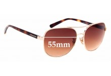 Sunglass Fix Replacement Lenses for Coach HC7075 - 55mm Wide