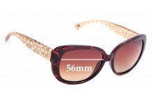 Sunglass Fix New Replacement Lenses for Coach HC8076 Laurin - 56mm Wide