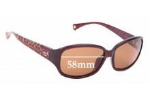 Sunglass Fix Replacement Lenses for Coach Tegan - 58mm wide
