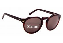 Sunglass Fix Replacement Lenses for Colab Corbu - 51mm Wide