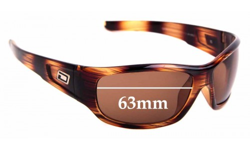 Sunglass Fix Replacement Lenses for Dirty Dog Sythe - 63mm Wide