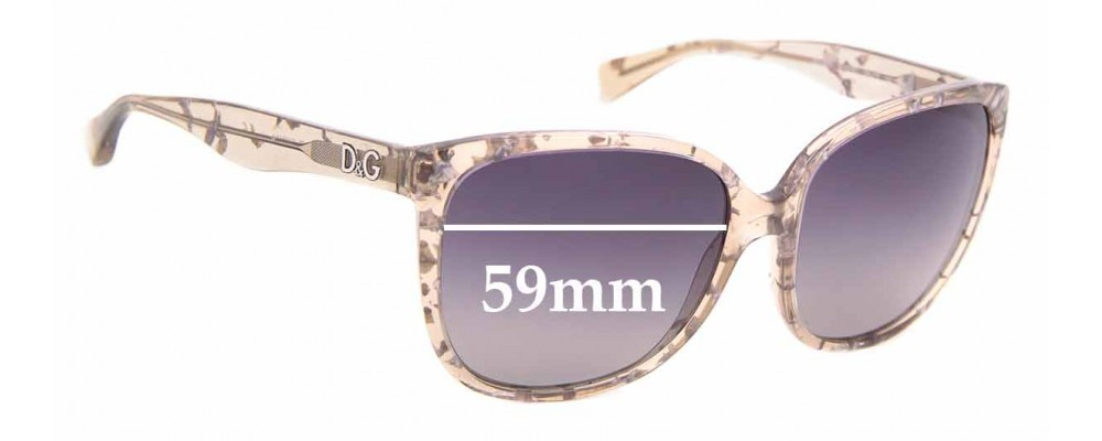 Sunglass Fix Replacement Lenses for Dolce & Gabbana DD3090 - 59mm wide