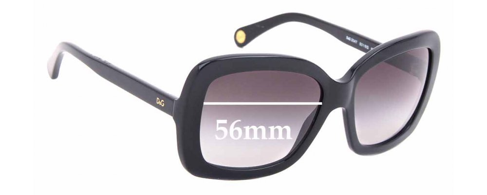 Sunglass Fix Replacement Lenses for Dolce & Gabbana DG 3047 - 56mm wide