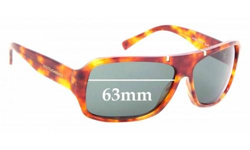 Sunglass Fix Replacement Lenses for Dolce & Gabbana DG 4044 - 63mm wide
