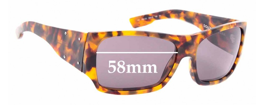 Sunglass Fix Replacement Lenses for Dolce & Gabbana DG 4045 - 58mm wide