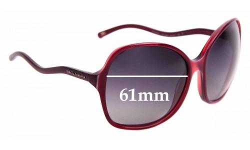 Sunglass Fix Replacement Lenses for Dolce & Gabbana DG4059 - 61mm Wide