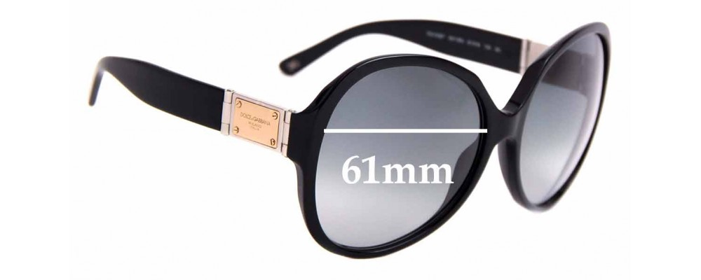 Sunglass Fix Replacement Lenses for Dolce & Gabbana DG4087 - 61mm Wide