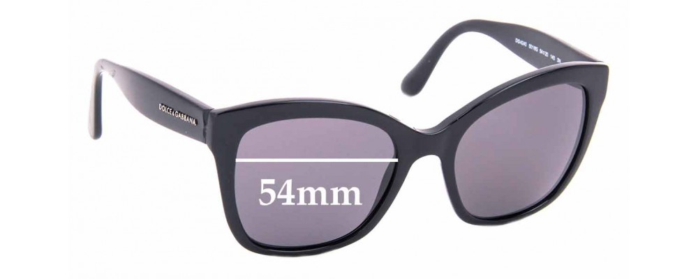 Sunglass Fix Replacement Lenses for Dolce & Gabbana DG4240 - 54mm Wide