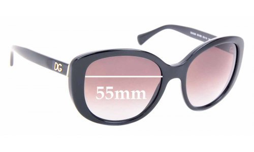 Sunglass Fix Replacement Lenses for Dolce & Gabbana DG4248 - 55mm Wide