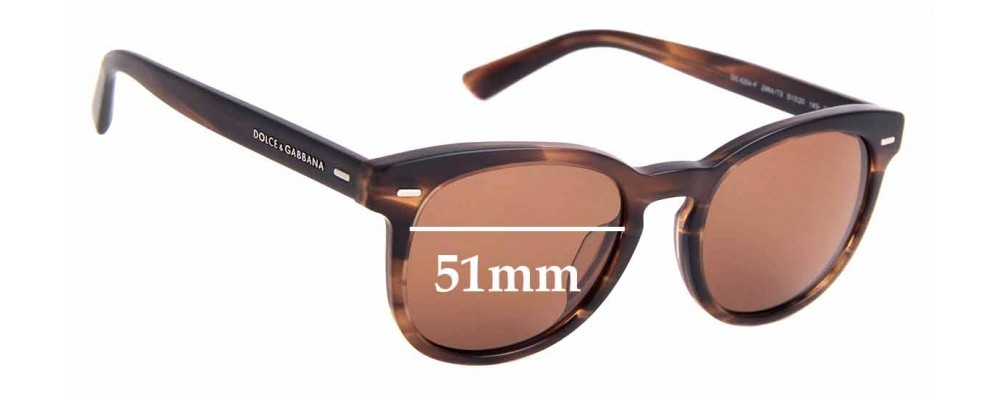 Sunglass Fix Replacement Lenses for Dolce & Gabbana DG4254-F - 51mm Wide