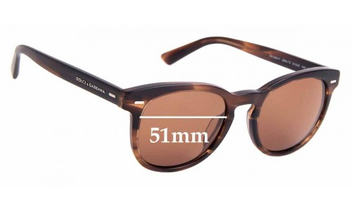 Sunglass Fix Replacement Lenses for Dolce & Gabbana DG4254-F - 51mm Wide
