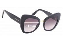 Sunglass Fix Replacement Lenses for Dolce & Gabbana DG4319 - 51mm wide