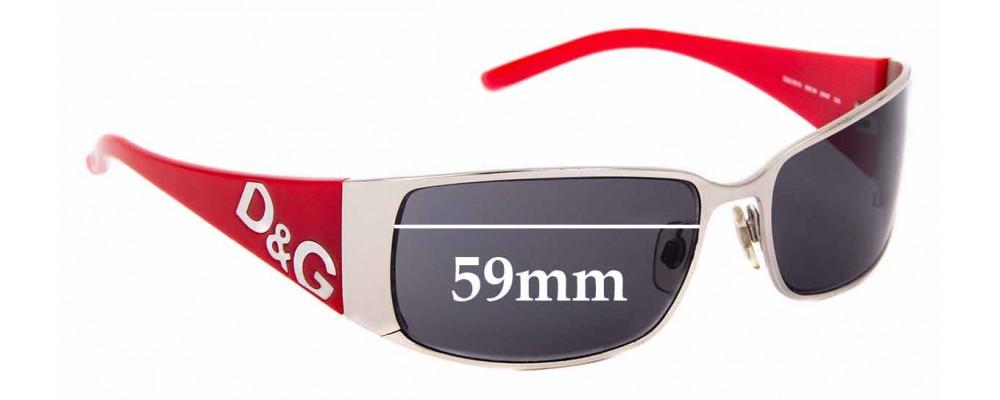Sunglass Fix Replacement Lenses for Dolce & Gabanna DG6010 - 59mm Wide